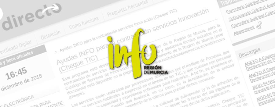 Subvenciones en Murcia – Cheque TIC 2018-2019